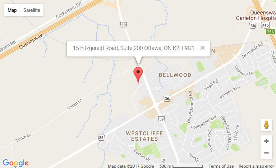 Map of Bells Corners Location