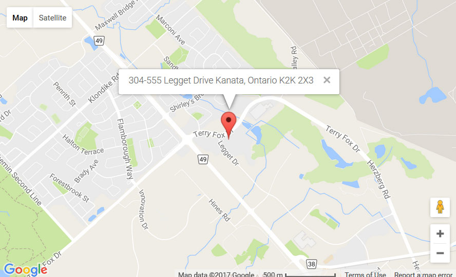 Map of Kanata Location